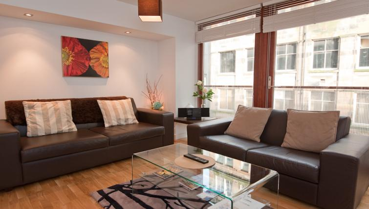 Comfortable living area at Vienna Apartments - Citybase Apartments