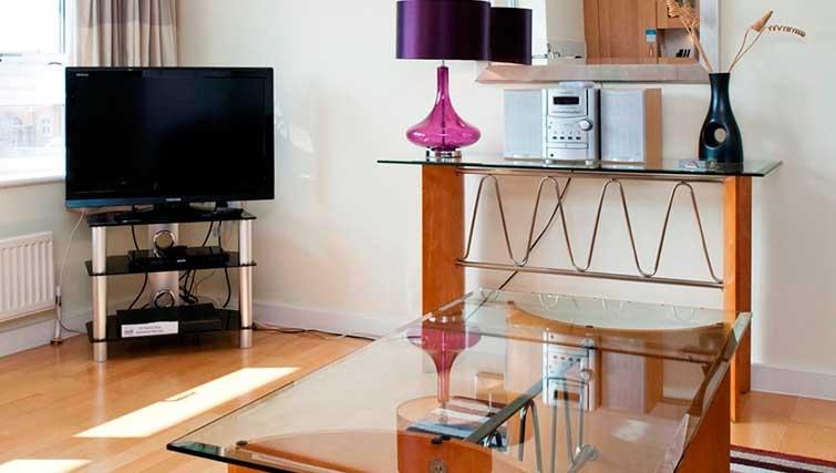 Stylish living area at Market Rise Apartments - Citybase Apartments