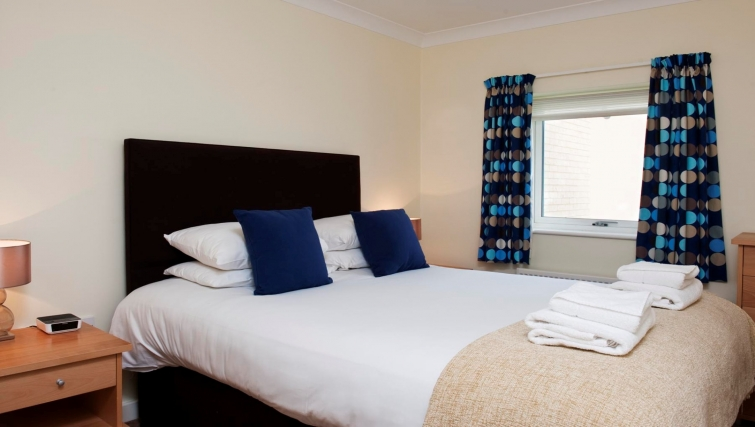 Double bedroom at Market Rise Apartments - Citybase Apartments