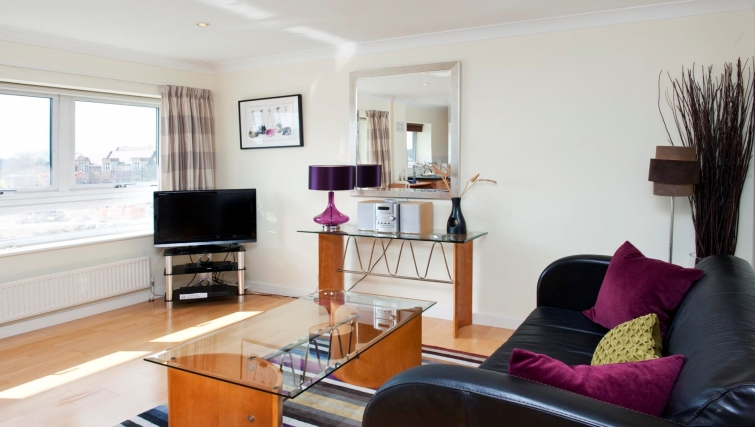 Bright living area at Market Rise Apartments - Citybase Apartments
