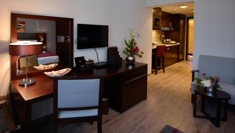 Furnished living area Links Hotel Apartments - Citybase Apartments