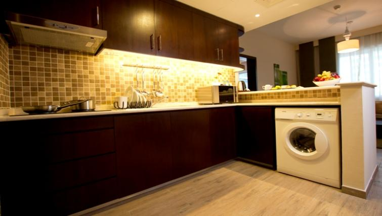 Basic kitchenette at Vision Links Residence - Citybase Apartments