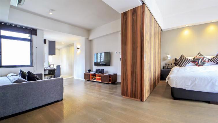 Living space at Mori Mori Serviced Apartments - Citybase Apartments
