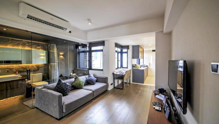 Living area at Mori Mori Serviced Apartments - Citybase Apartments