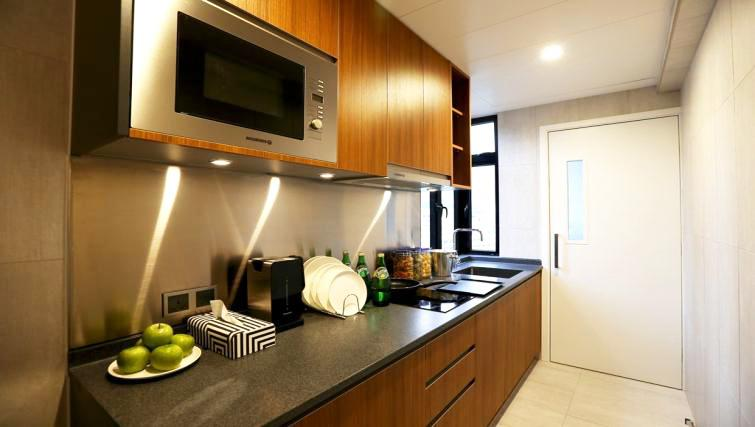 Kitchen at Mori Mori Serviced Apartments - Citybase Apartments