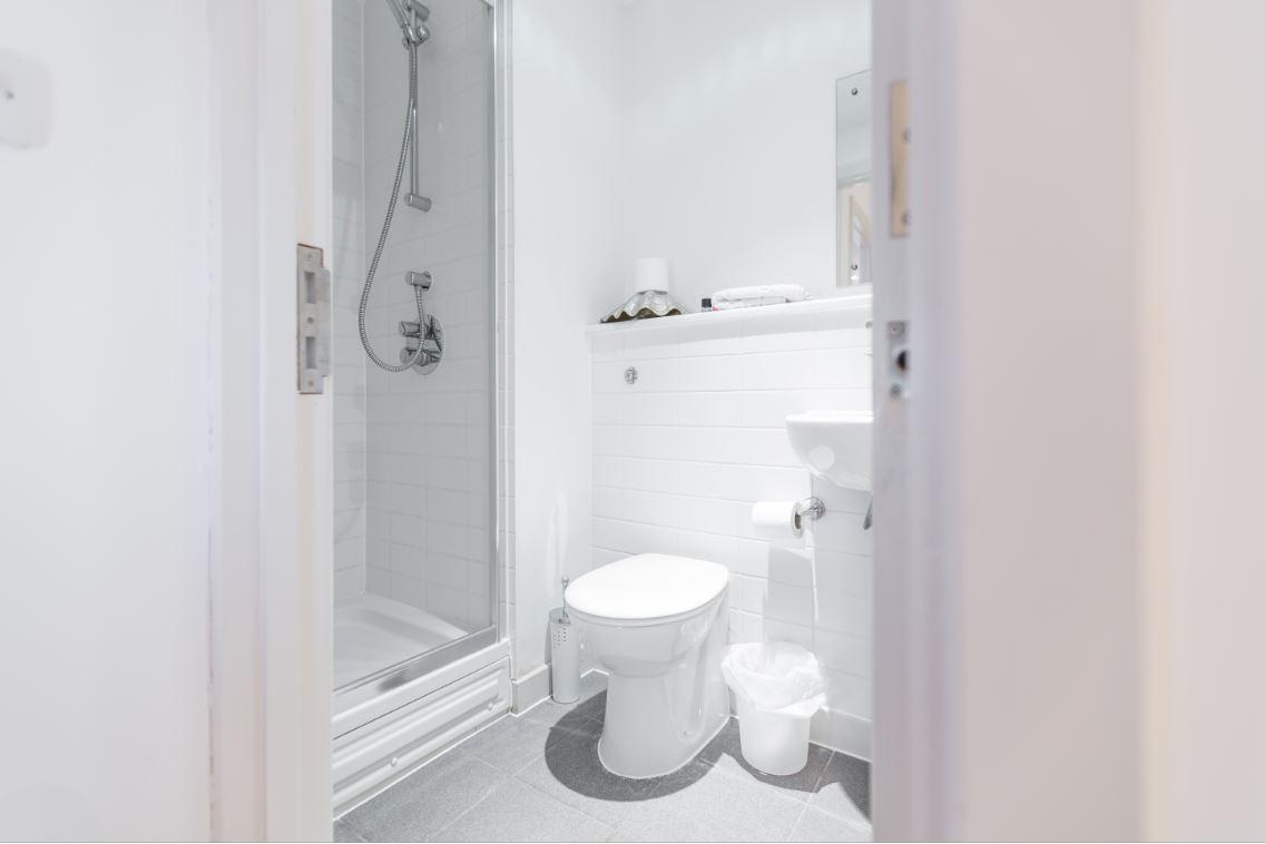 Shower at Castle Quay Apartments, Centre, Bedford - Citybase Apartments