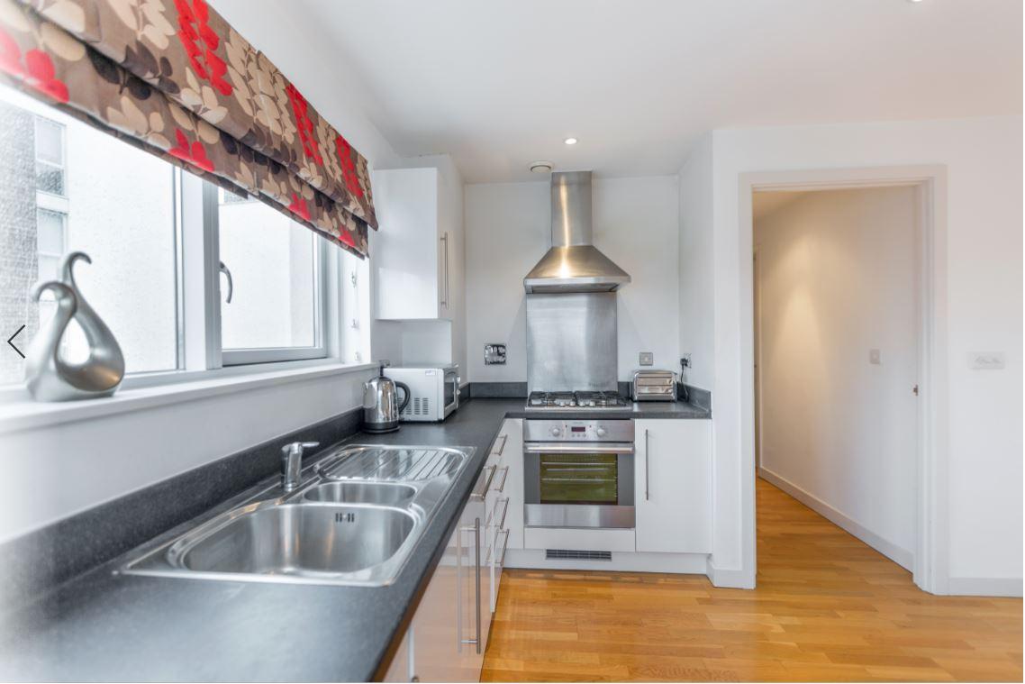 Kitchen at Castle Quay Apartments, Centre, Bedford - Citybase Apartments