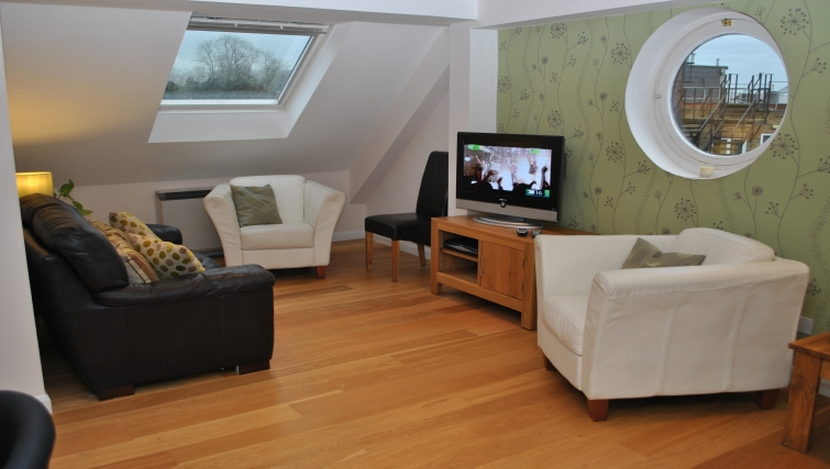 Modern living area in The Courtyard Apartments - Citybase Apartments