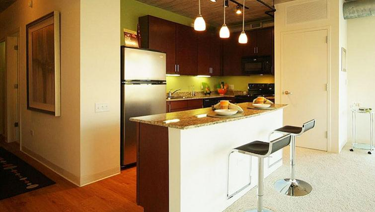 Kitchen at Clark Street Apartment - Citybase Apartments