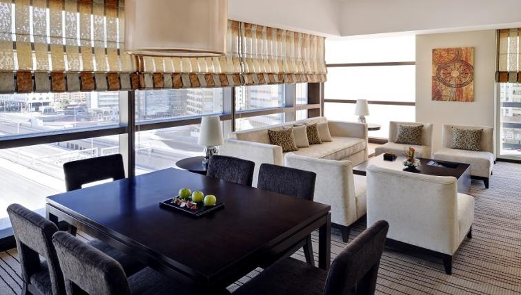 Living area at Southern Sun Abu Dhabi Apartments - Citybase Apartments