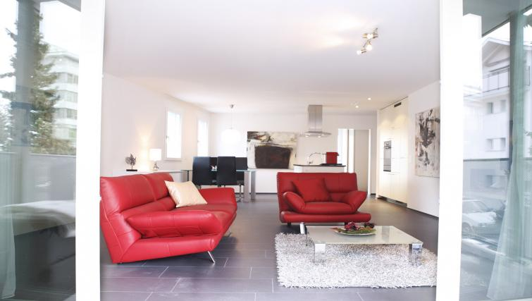 Modern living area at Bahnhofstrasse Apartments - Citybase Apartments