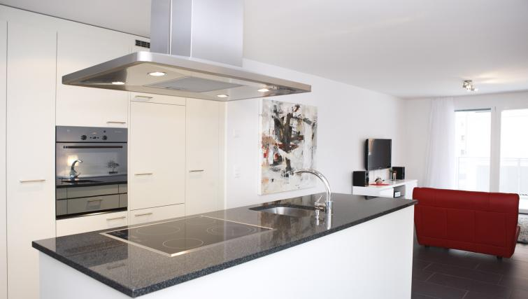 Modern kitchen at Bahnhofstrasse Apartments - Citybase Apartments