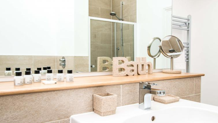 Pristine bathroom at Beaufort House Apartments - Citybase Apartments