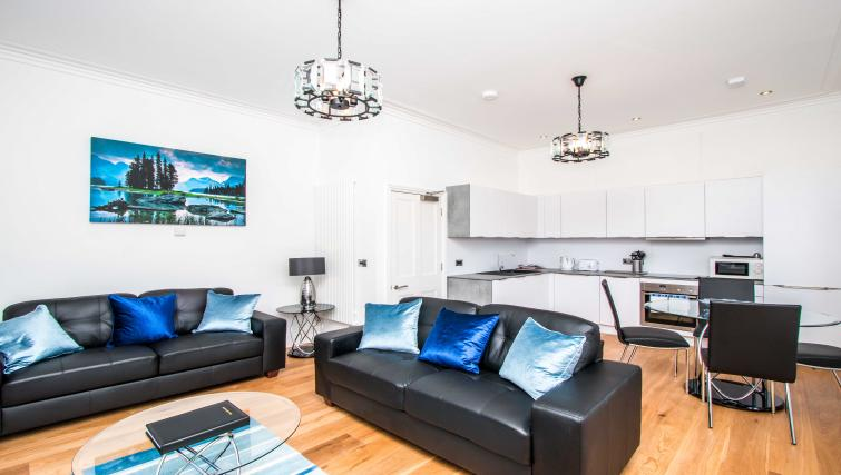 Living area at Beaufort House Apartments - Citybase Apartments