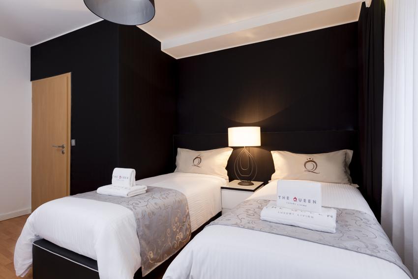 Comfortable bedroom at Villa Serena Apartments - Citybase Apartments