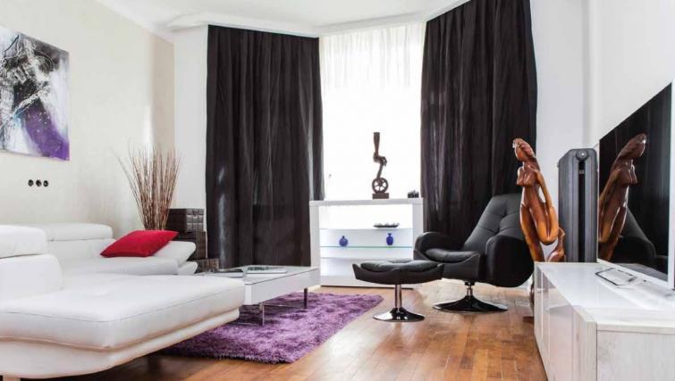 Modern living area at Villa Gemma Apartments - Citybase Apartments