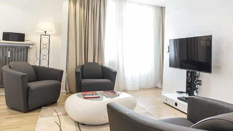Living room at Gemma Apartment - Citybase Apartments