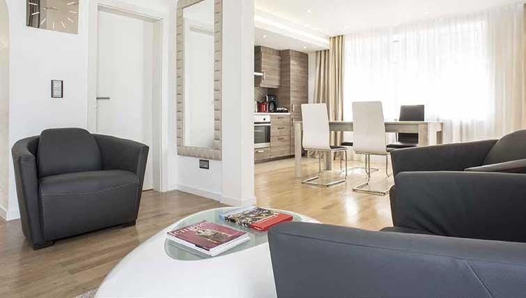 Open-plan living area at Gemma Apartment - Citybase Apartments
