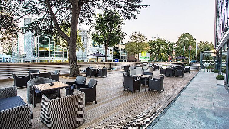 Large terrace at Watford Junction Apartments - Citybase Apartments