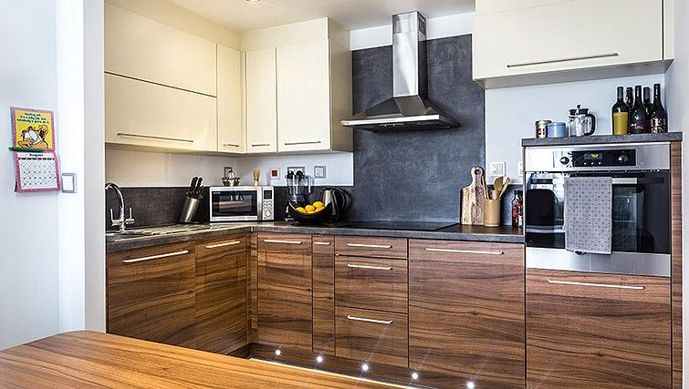 Equipped kitchen at Watford Junction Apartments - Citybase Apartments