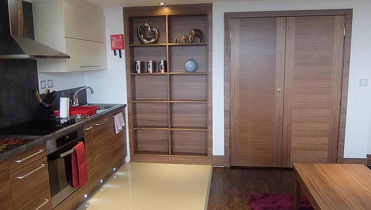 Fully equipped kitchen at Watford Junction Apartments - Citybase Apartments