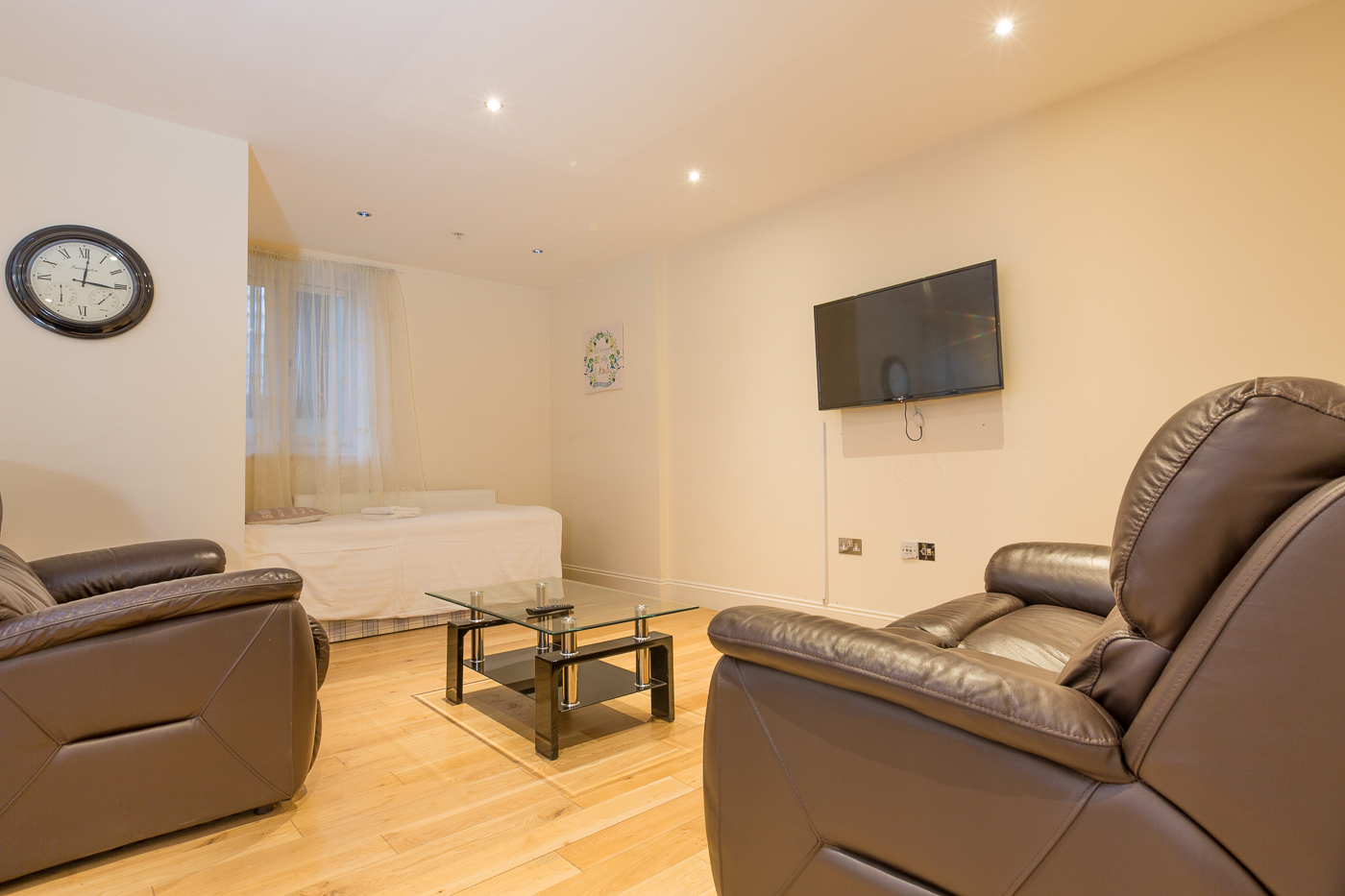 Living area at Castle Mews Apartment, Centre, Bedford - Citybase Apartments
