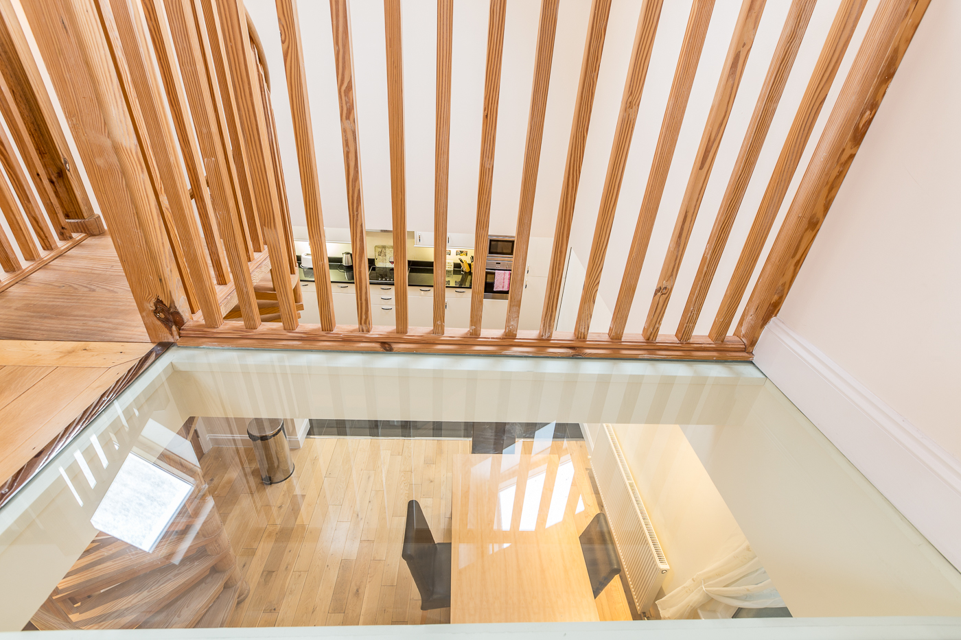 Glass floor at Castle Mews Apartment, Centre, Bedford - Citybase Apartments