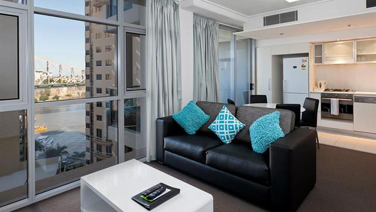 Living area in 1 bed at Mantra on the Quay - Citybase Apartments