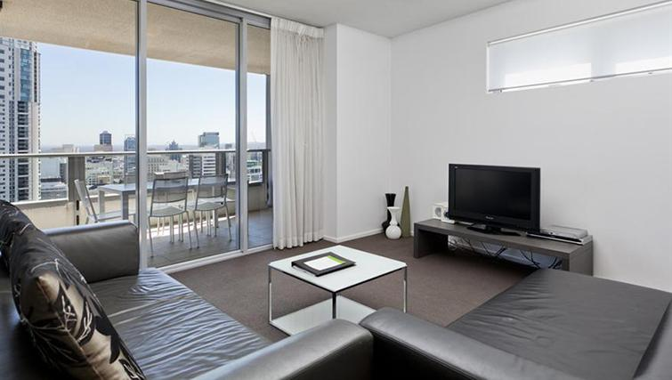 Living area in 3 bed at Mantra on the Quay - Citybase Apartments