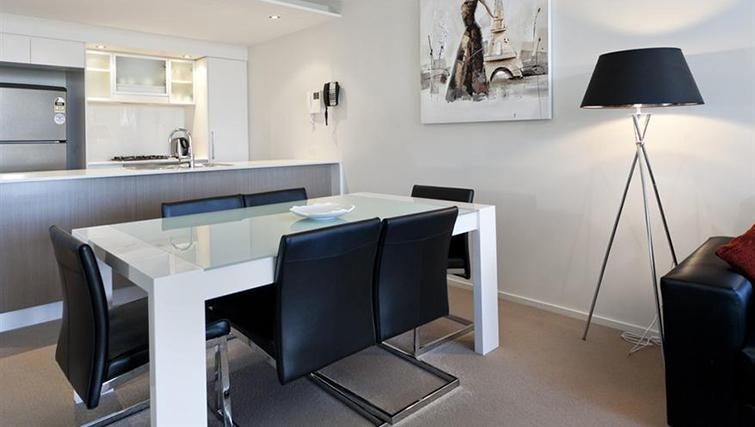 Dining area in 2 bed at Mantra on the Quay - Citybase Apartments