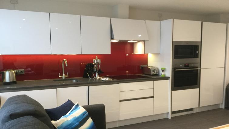 Fully equipped kitchen at Clarendon Burleigh Mansions - Citybase Apartments