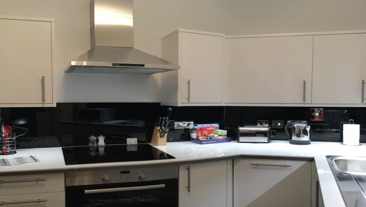 Kitchen facilities at Clarendon Burleigh Mansions - Citybase Apartments
