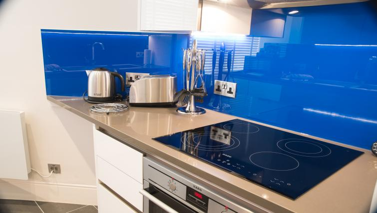 Modern kitchen at Clarendon Burleigh Mansions - Citybase Apartments