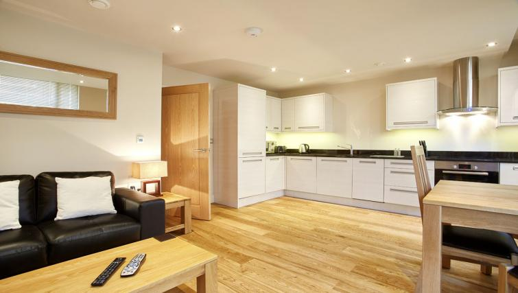 Open-plan kitchen at Bank House Apartments - Citybase Apartments