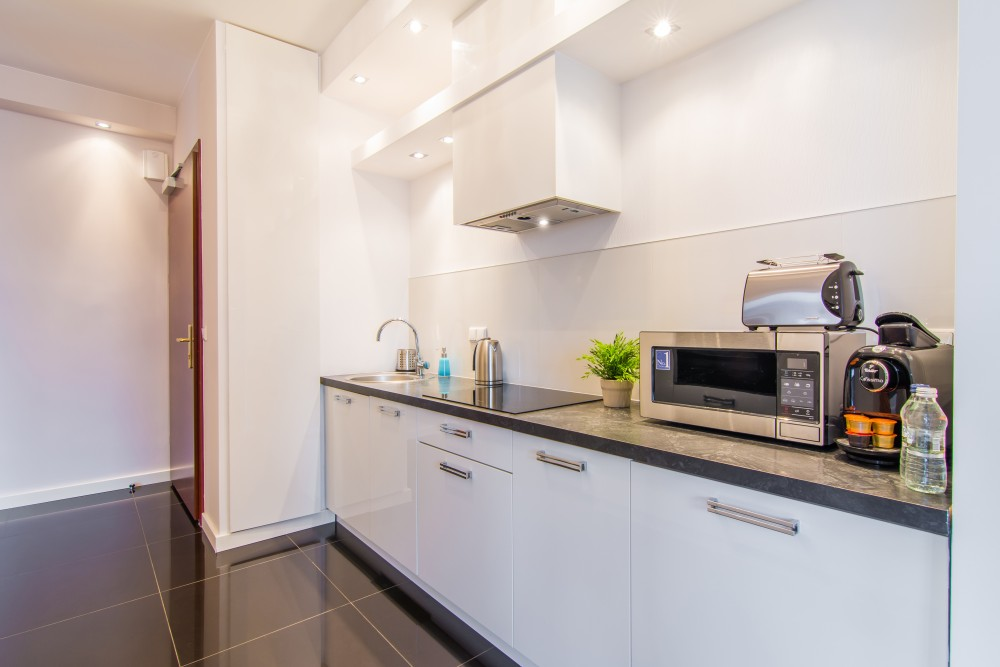 Microwave at Atelier Residence - Citybase Apartments