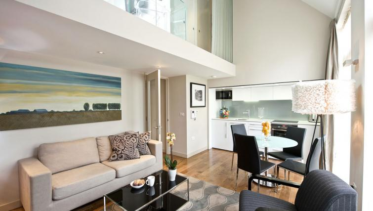 Open-plan living area at Fraser Residence Bishopsgate - Citybase Apartments