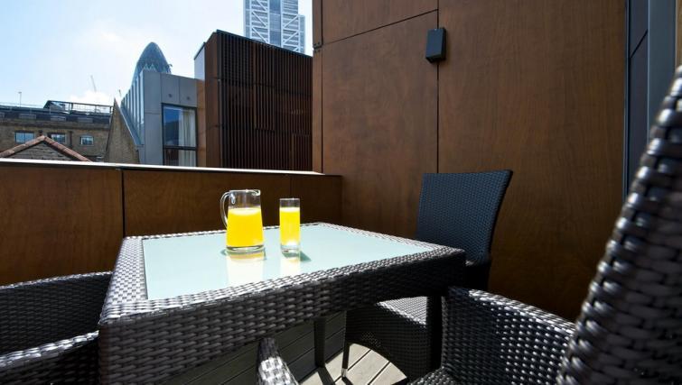 Balcony at Fraser Residence Bishopsgate - Citybase Apartments