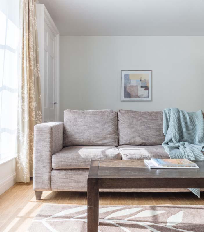 Comfy sofa at Saco Bath – St James's Parade - Citybase Apartments