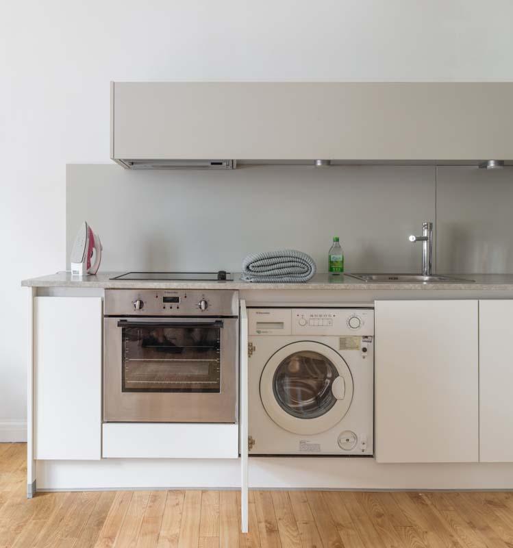 Modern kitchen at Saco Bath – St James's Parade - Citybase Apartments