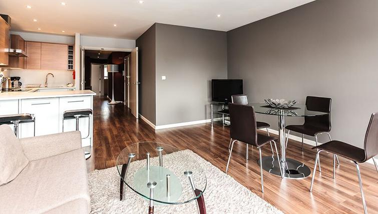 Dining area at Native Hoxton Apartments - Citybase Apartments