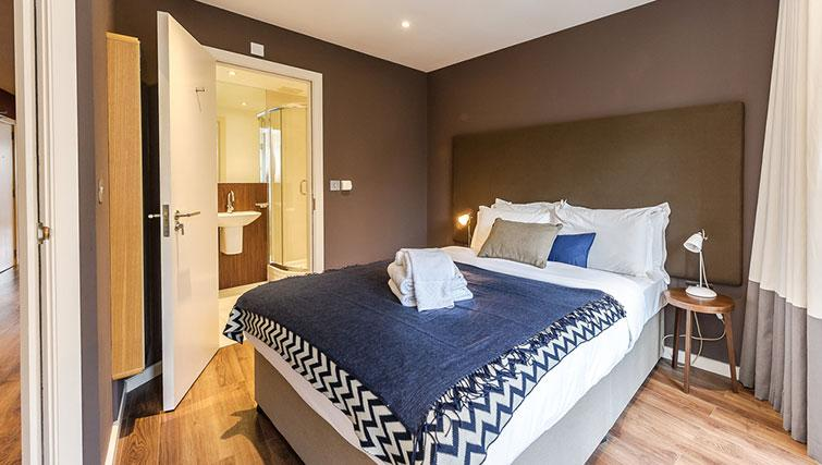 Double bedroom at Native Hoxton Apartments - Citybase Apartments