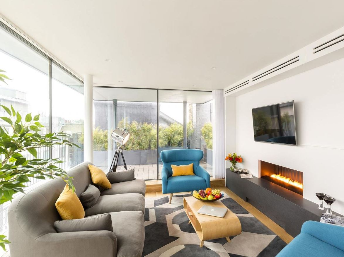 Living room at Holborn by Q Apartments - Citybase Apartments