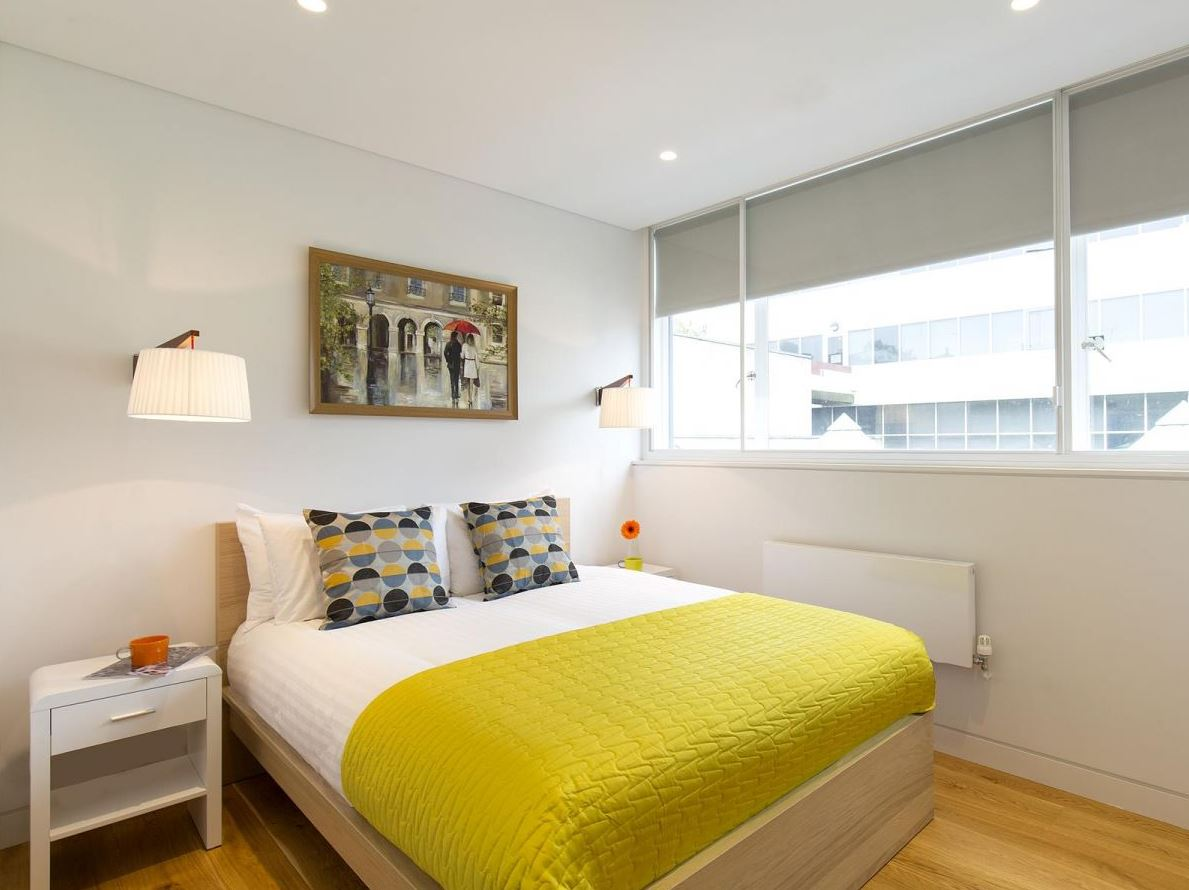 Bedroom at Holborn by Q Apartments - Citybase Apartments
