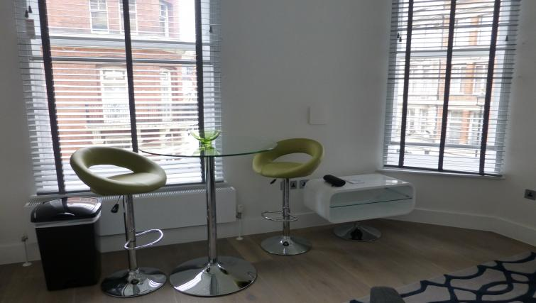 Seating at the Clarendon 94 Shaftesbury Avenue - Citybase Apartments