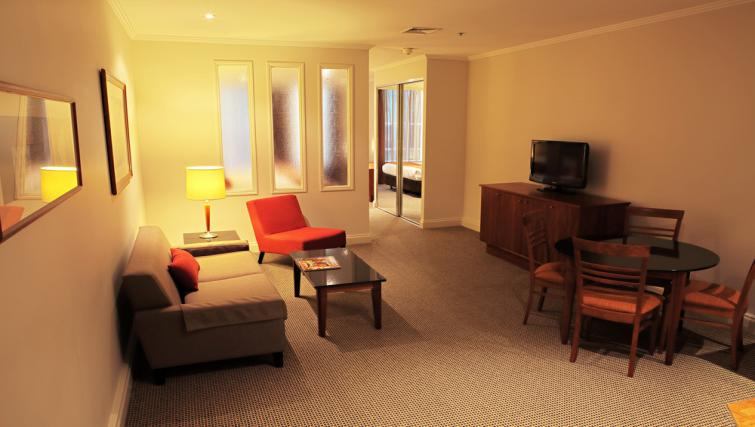 Living area at Mantra on Little Bourke - Citybase Apartments