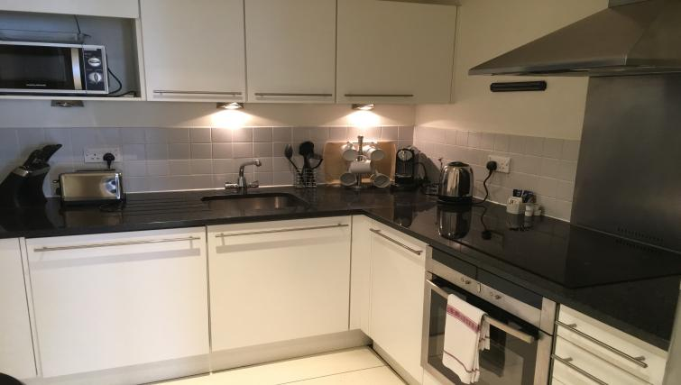 Equipped kitchen at Still Life Liverpool Street - Citybase Apartments
