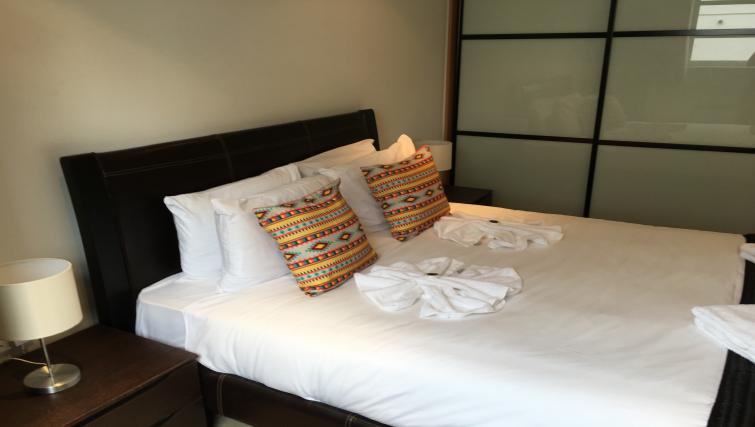 Master bedroom at Still Life Liverpool Street - Citybase Apartments