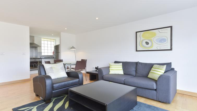 Sofa at Still Life Liverpool Street - Citybase Apartments