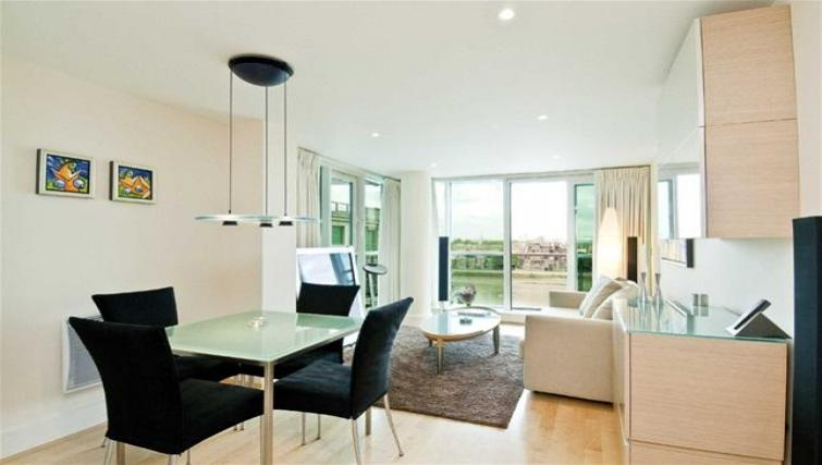 Living/dining area at Still Life Vauxhall - Citybase Apartments