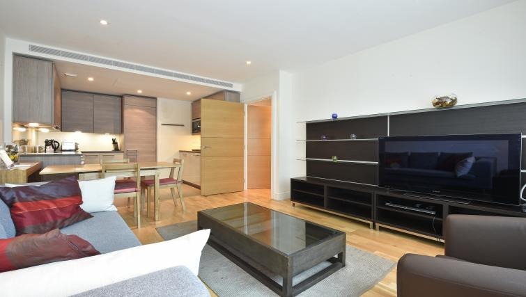 Furnished living area at Still Life Vauxhall - Citybase Apartments